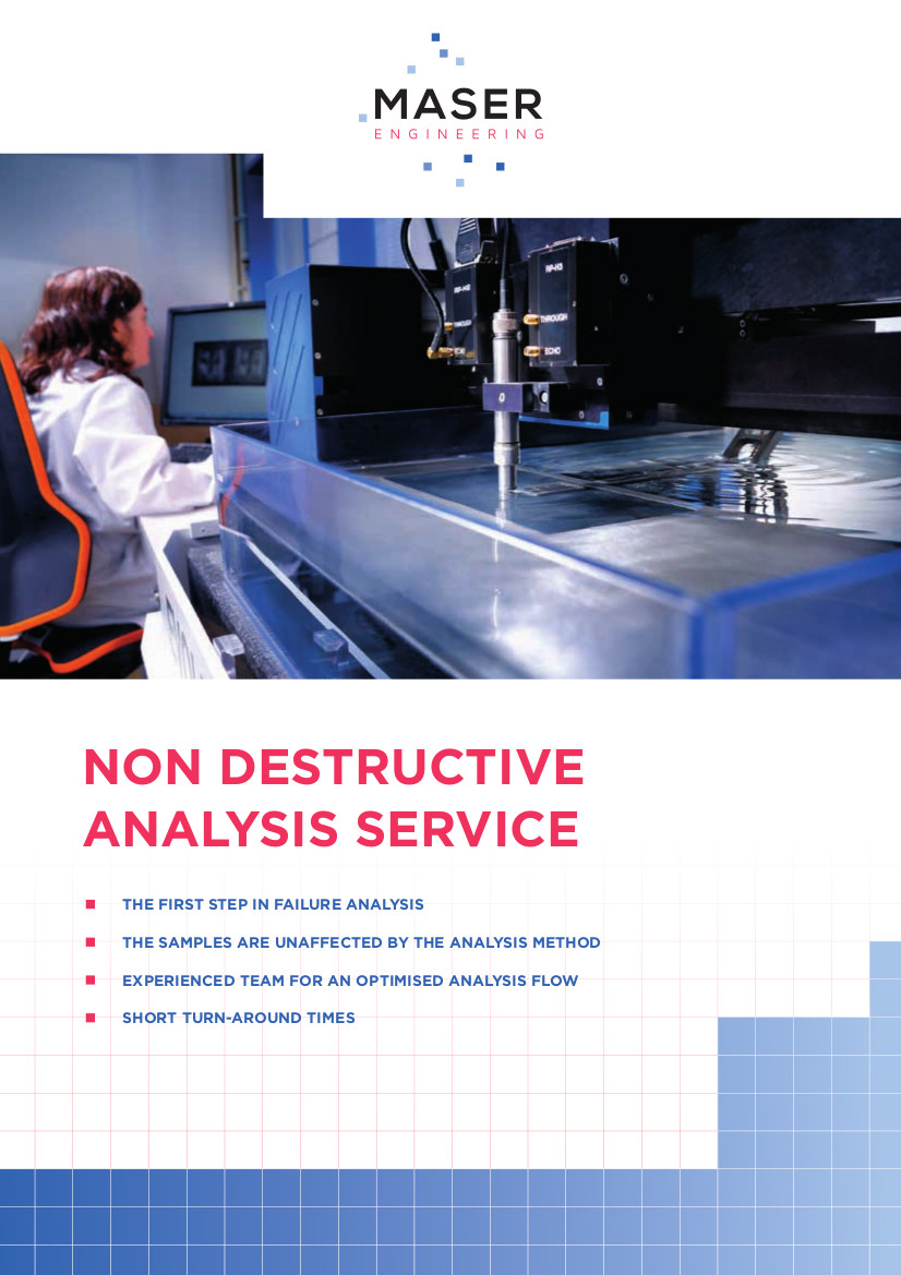 MASER Non-Destructive Analysis leaflet