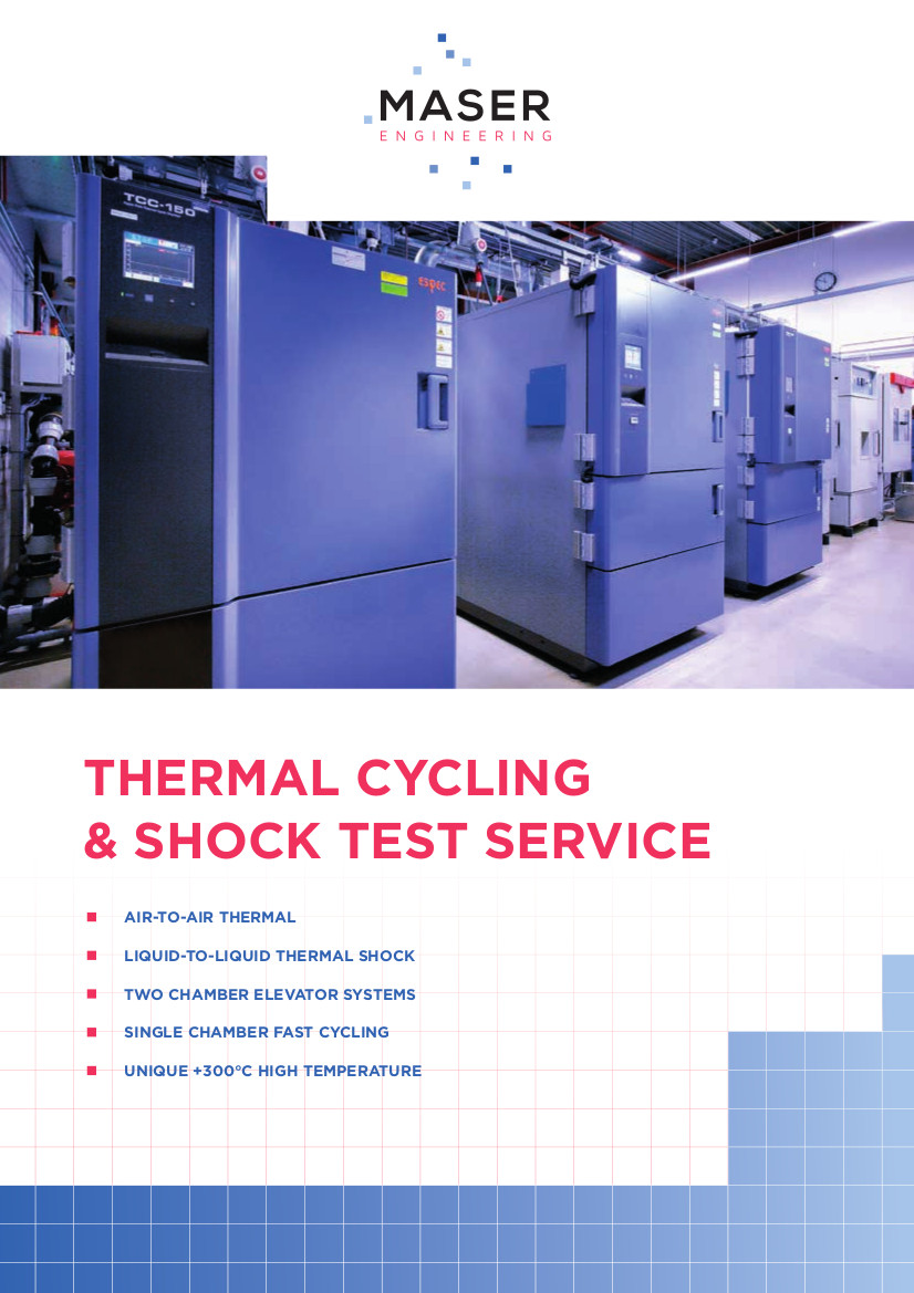Temperature Cycling and Shock test services